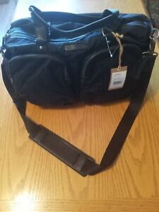 12 TWELVElittle  BG 101 Black/Black Polyester body/Genuine leather trim duffle