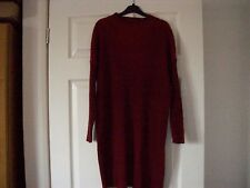 STUNNING LADIES LONG LENGTH ORANGEY RED JUMPER SIZE 12 FROM ASOS WORN ONCE
