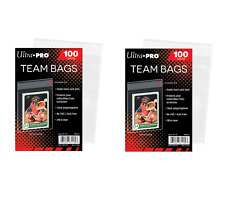 (200 / 2 Packs) Ultra Pro Team Set Bags Resealable Strip Trading Card Storage