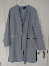 Asos baby blue shacket / longline jacket size 8 / rare and eye catching / vgc 👀