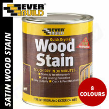 Everbuild Wood Stain Indoor and Outdoor Quick Drying 750ml or 2.5L - 8 Colours