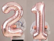 "21st Birthday Party 40"" Foil Balloon HeliumAir Decoration Age 21 Rose Gold lite"