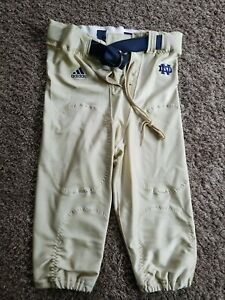 2004 Notre Dame Fighting Irish Adidas Football Game Pants with belt - Size 34