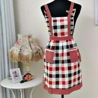 Women Lady Restaurant Home Kitchen For Pocket Cooking Cotton Apron Bib LY