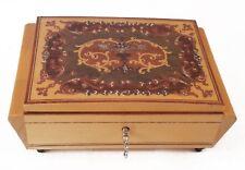Lador Swiss Musical Movement Music Box with Key, Plays Isola Di Capri 1571
