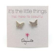 DOGEARED It's The Little Things Simple Sterling Silver Butterfly Stud Earrings