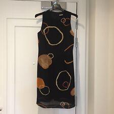 Principles black dress with pattern UK size 8