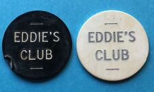 2 Two Eddies Club Trade Tokens 5 Cent 25 Cent Tokens