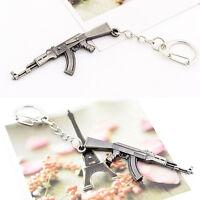 Ak47 Gun Key Chain Classic Men Key Ring Jewelry Pendants Keychain Pip UK