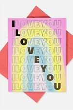 Typo Unisex Love Card Cards  In  Rainbow I Love You