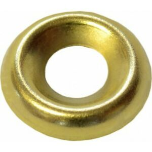 EB Brass Screw Cup Washers Cabinet Furniture No 6 8 or 10 (Qty 20)