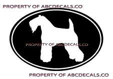 Vrs Oval Dog Kerry Blue Terrier Adoption Puppy Rescue Car Decal Vinyl Sticker
