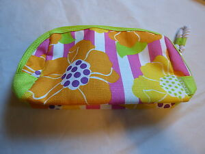 Clinque Yellow Pink Orange Pink Green New Cosmetic Bag  Makeup Case