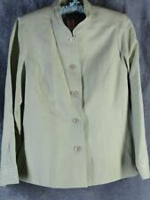 Coldwater Creek 10 Linen 3 Piece Outfit Pants Tank Jacket Spring Green