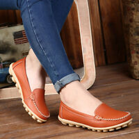 Womens Comfort Flats Pumps Loafers Moccasin 2018 Shoes Slip On Leisure Outdoor