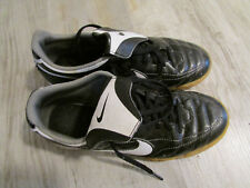 Nike Indoor Soccer Shoes Size Youth 5 Black/White Free Ship