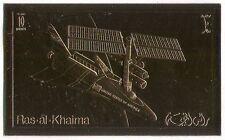 Ras al Khaima Space Shuttle/Rocket/Transport/Science GOLD IMPERF 1v (b8516)