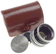 H16RX 16mm MOVIE CAMERA FILM VINTAGE C-MOUNT LENS SWITAR 1:1.4 f=25mm CAPS CASE