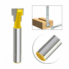 Steel Handle Milling Woodworking Router Bit New 3/8'' T-Slot Cutter 1/4'' Shank