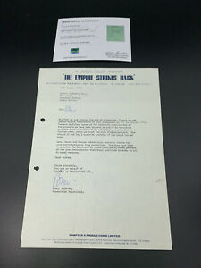 Star Wars ESB Empire Strikes Back Prop Stuart Freeborn Termination Notice W/ COA