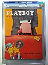 July 1956 Playboy Magazine CGC 7.5 Vintage 1950's Issue Alice Denham Hugh Hefner