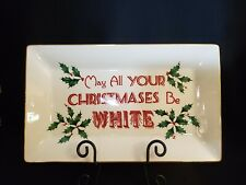 """Lenox Home for the Holidays """"May All Your Christmases Be White"""" Platter NIB"""