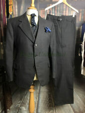 Vintage BESPOKE Prince of Wales Check Heavyweight cloth  3 piece Suit 38-40C/...