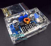 5A CC CV LED Drive Lithium charger Power Step-down Module W/ USB W/ Shell new