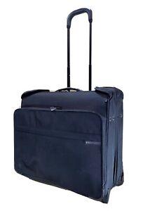 BRIGGS & RILEY U376-4 Deluxe Wheeled Rolling Garment Bag Black Baseline