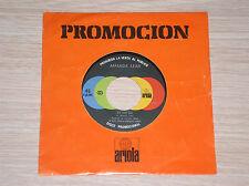 """AMANDA LEAR - RUN BABY RUN / FOLLOW ME - 45 GIRI 7"""" PROMO SPAIN"""