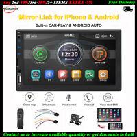 7''2 Din Autoradio Siri Android Auto+Cámara MP5 iOS Enlace Espejo FM BT