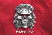 Insigne tête de mort biker non militaire (hauteur:3 cm)