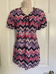 Koi By Kathy Peterson Women's Scrub Top Size XL  V neckline pockets