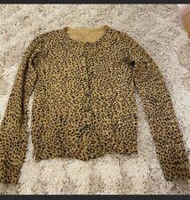 Beautiful Warm Leopard Cheetah Print Cardigan Sweater! Sz Small