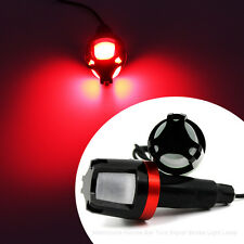 2x Red 12V LED Handlebar End Plug Marker Turn Signal Light For Bike Motorcycle