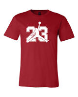 Michael Jordan Jumpman # 23 Logo, Unisex  T-Shirt, 5 COLORS-TEE , FREE SHIPPING