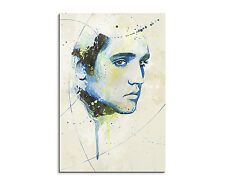 90x60cm PAUL SINUS Splash Art Gemälde Kunstbild Elvis Presley Aqua