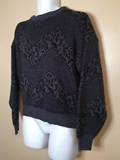 Vintage Men's Barnaby Large Navy & Black Sweater Mens chevron design Beautiful L