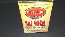 UNOPENED BOX VINTAGE RIVAL BLUE BRAND SAL SODA BOX 2 1/2 LBS. NOS