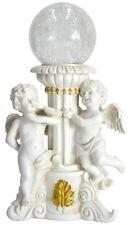 Gardenwize Outdoor Garden Grave Cherub Angel Statue Ornament with Solar Light