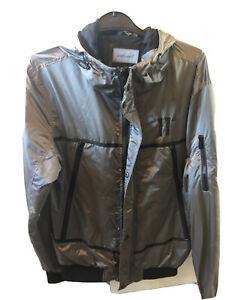 11 DEGREES MEN'S  Reflective Windbreaker Jacket Large Mens