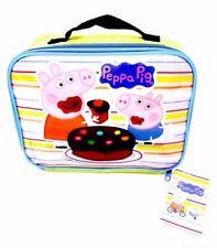 Back to School Peppa Pig Yellow Boys   Girls Insulated Lunch Bag 25cm 1a5f279ba9404