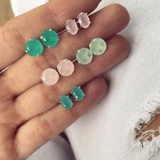 5Pairs Boho Women Girl Geometric Zircon Ear Studs Earrings Set Jewelry Utility