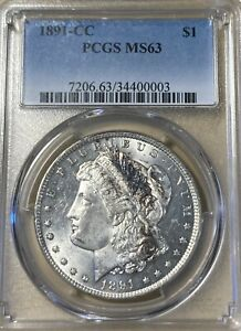 1891-CC Vam-7 Not Noted On Holder! PCGS MS63 Morgan Silver Dollar