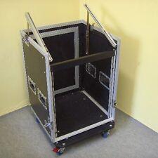 ROADINGER 12/10HE Winkelrack Kombicase L-Rack Workstation Flightcase m Rollbrett