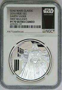 2016 NGC Niue Star Wars Classic DARTH VADER Silver Coin Proof PF70 UC FR