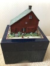 """Lang And Wise """"Fisher Salt Box"""" First Edition, Folk Art Villages Liberty Village"""