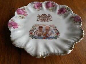 1902 Coronation King Edward VII Queen Alexandra Commemorative Plate