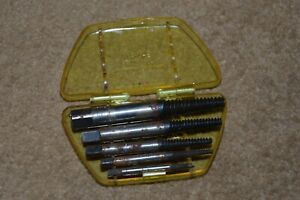 Set of five vintage screw extractors made in West Germany