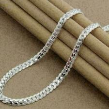 Curb Link G8W0 Y6W3 H7E0 C P8E2 5mm Mens Womens Stainless Steel Silver Twist